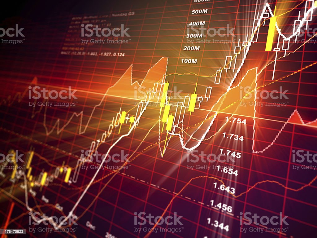 Bull Market - Financial Data royalty-free stock photo
