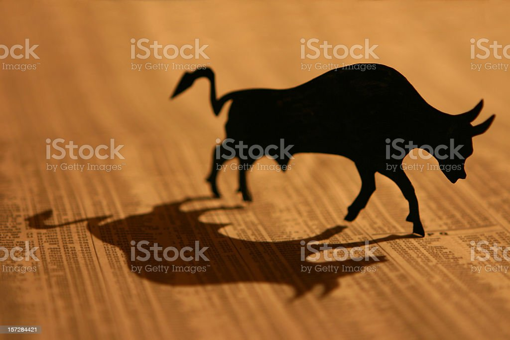 Bull Market stock photo