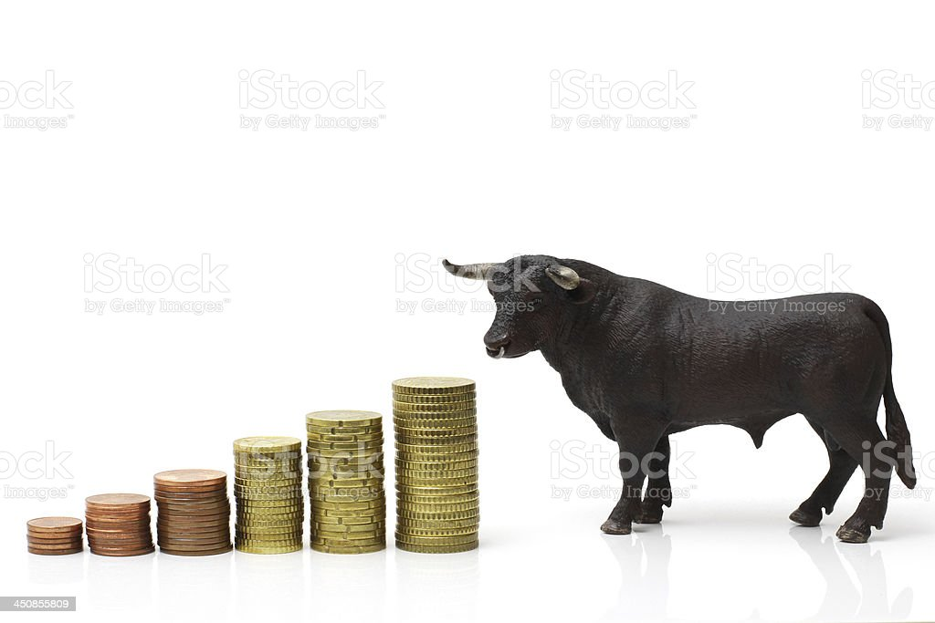 bull market royalty-free stock photo