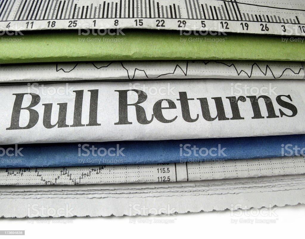 Bull Returns royalty-free stock photo