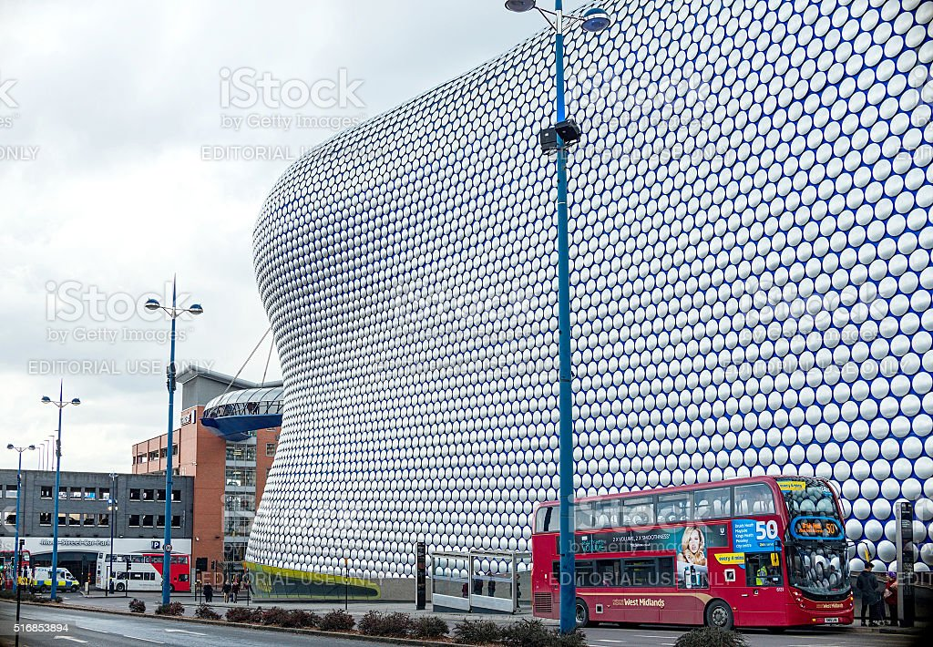 Bull Ring - Cloudy morning in Birmingham stock photo