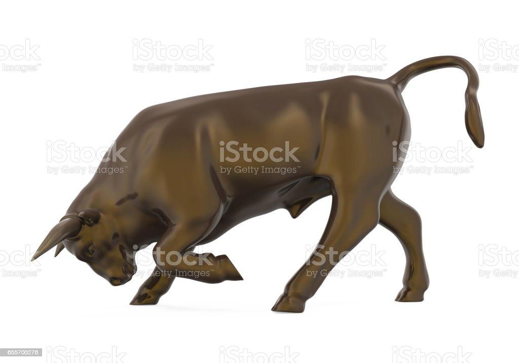 Bull Sculpture Isolated stock photo