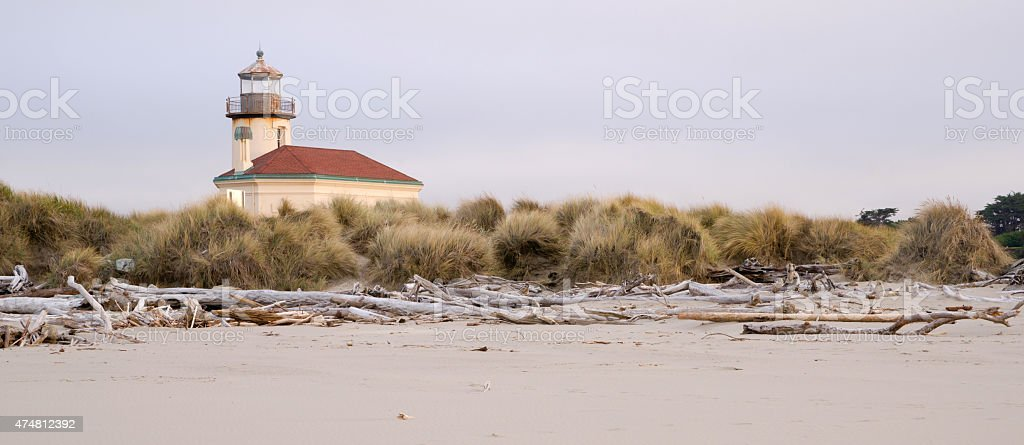 Bullards Beach Coquille River Lighthouse Bandon Oregon Pacific Coast stock photo