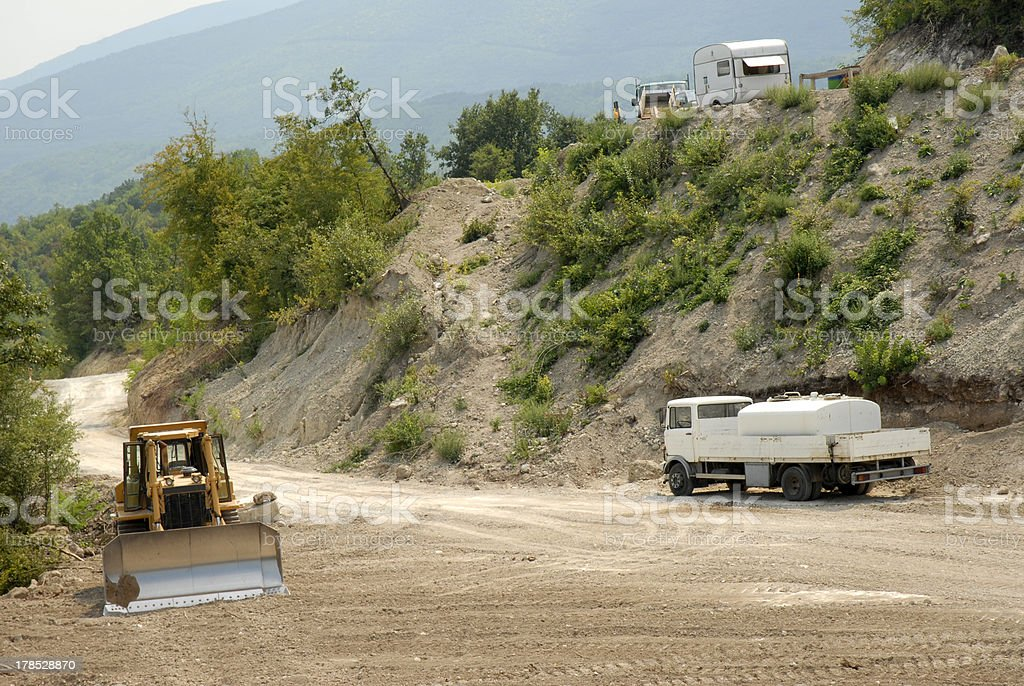 bulldoze royalty-free stock photo