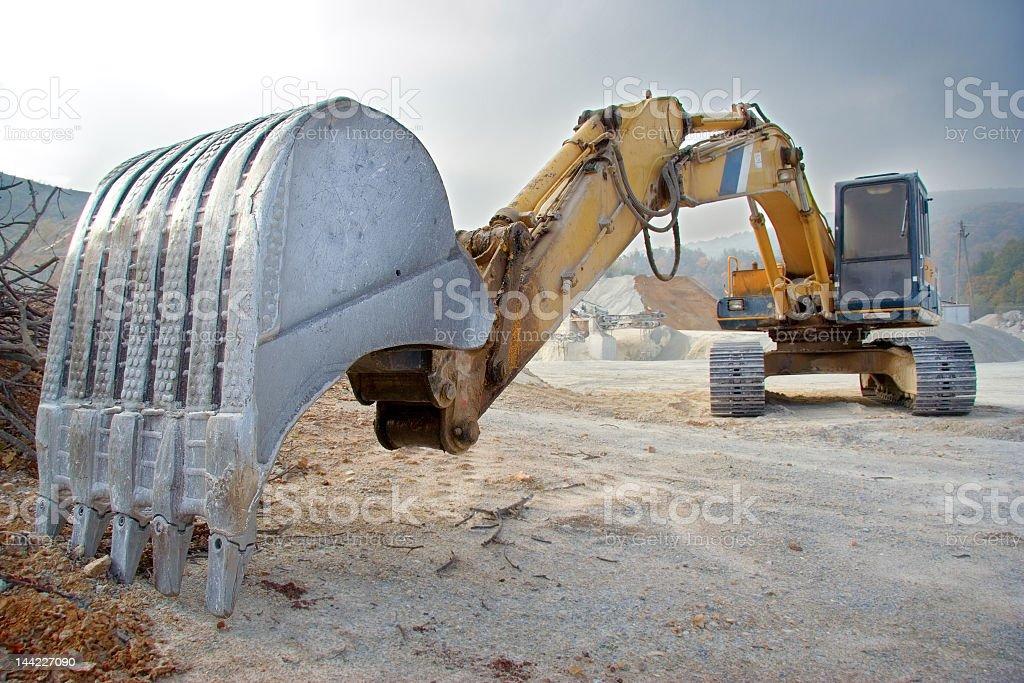 Bulldozer at construction site royalty-free stock photo