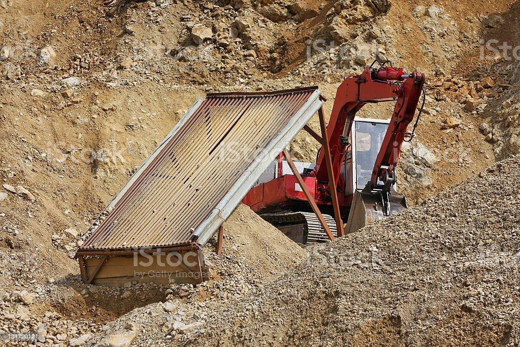 Bulldozer at work stock photo