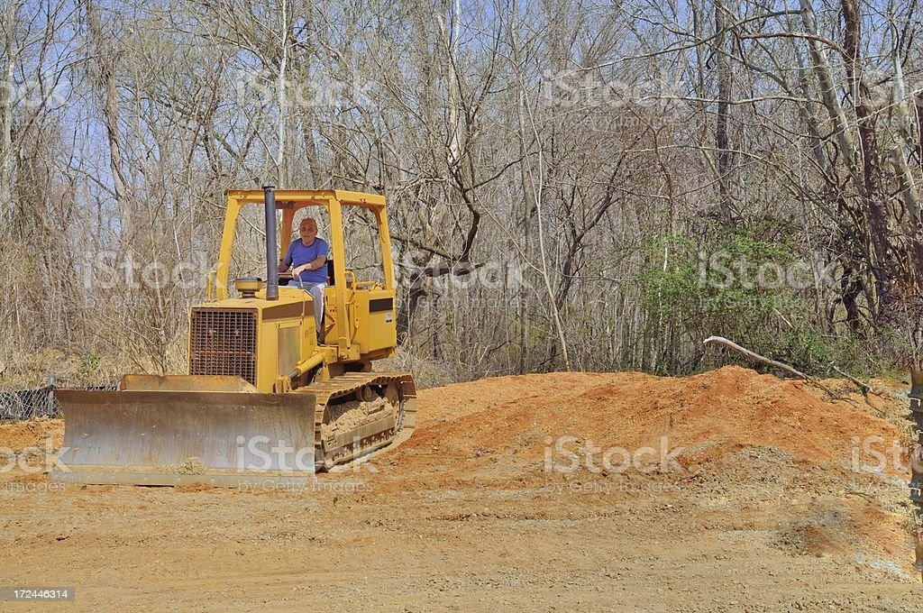 Bulldozer Driver royalty-free stock photo