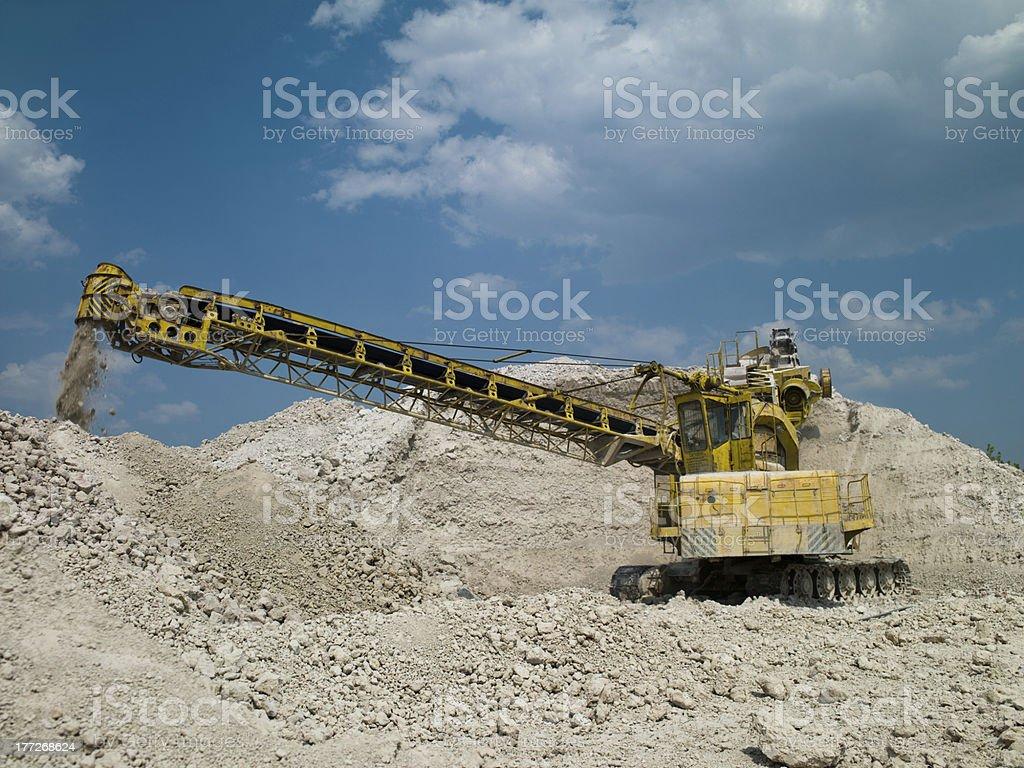 bulldozer in the career royalty-free stock photo
