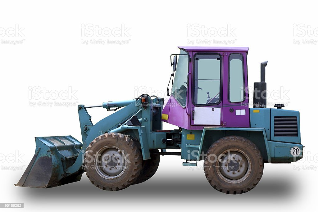 Bulldozer isolated (with clipping path) stock photo