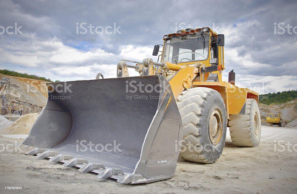 Bulldozer on a construction site royalty-free stock photo