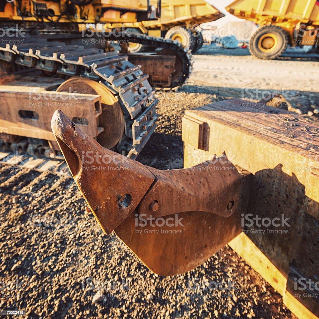 Bulldozer Ripper Arm stock photo