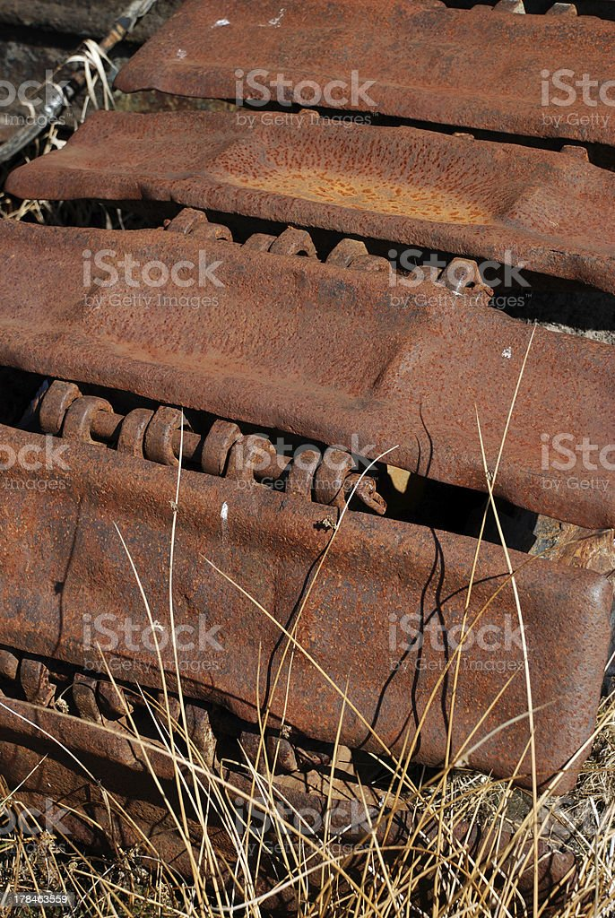 Bulldozer track royalty-free stock photo