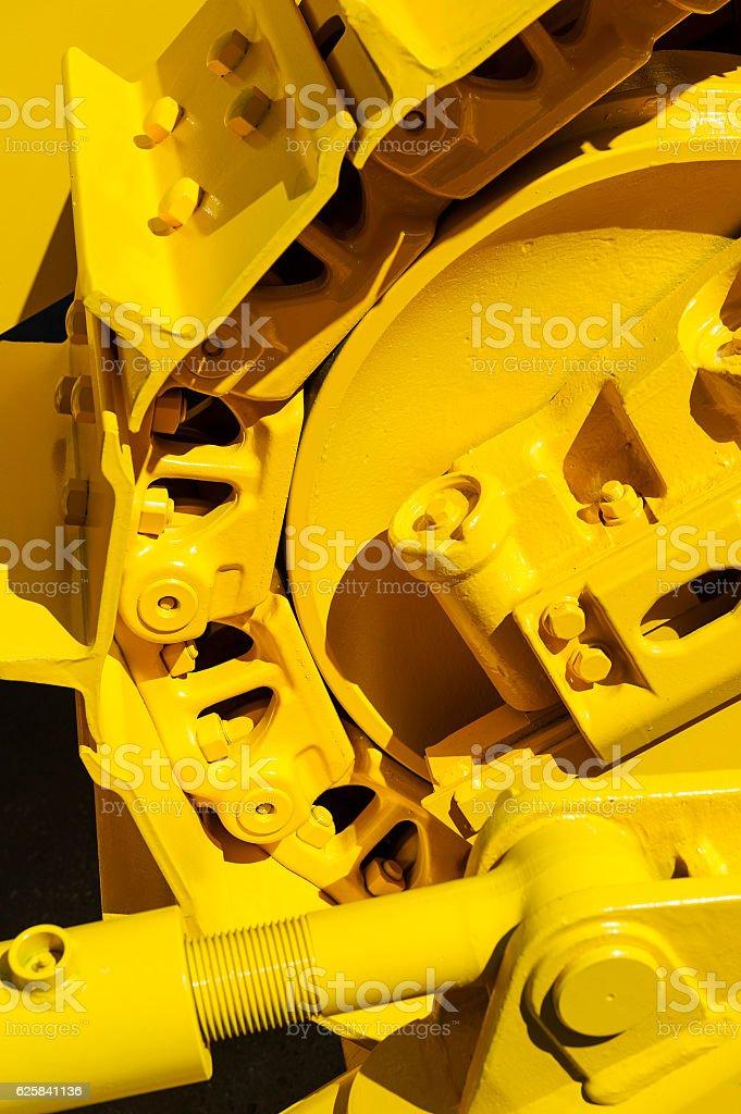 Bulldozer tracks abstraction stock photo