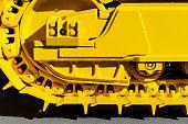 Bulldozer tracks detail