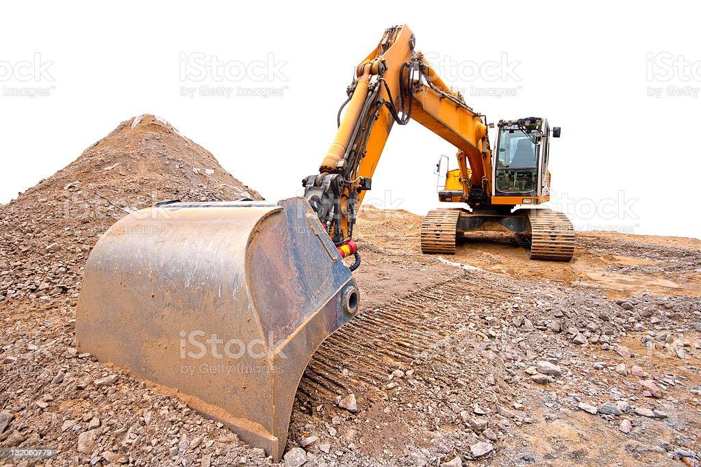 Bulldozer with isolated background royalty-free stock photo