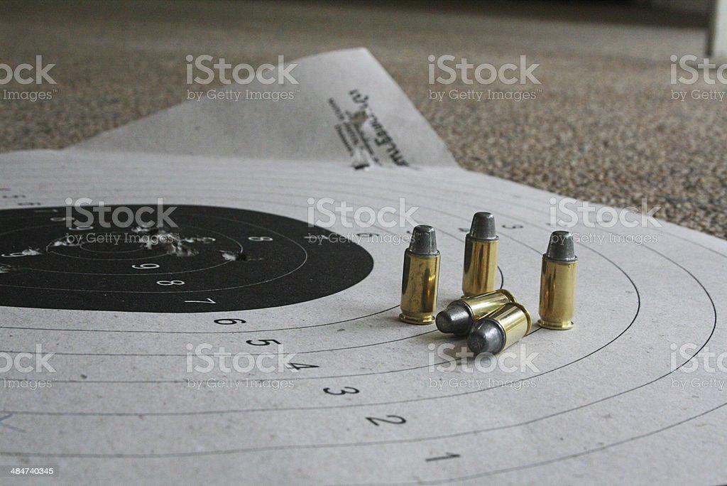 Bullet and Target stock photo