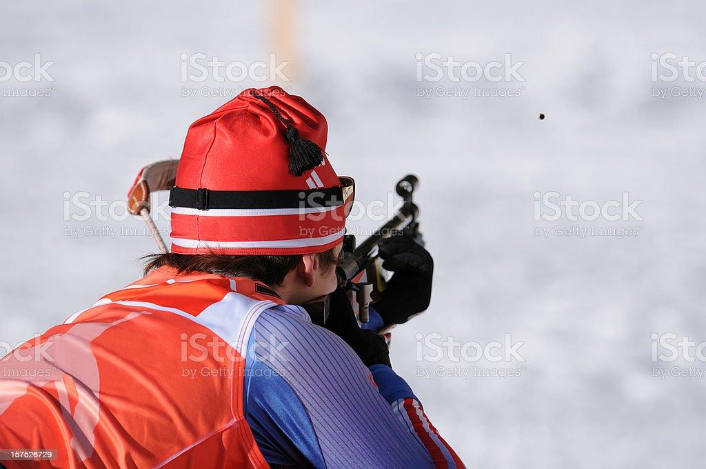 Bullet - biathlon competitor target shooting royalty-free stock photo