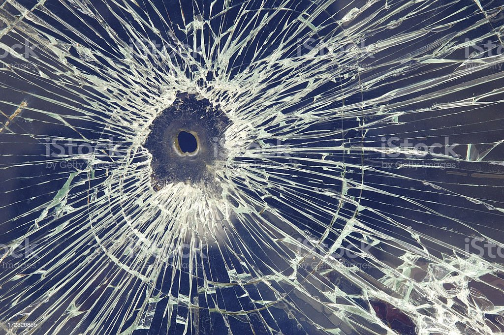 Bullet Hole royalty-free stock photo