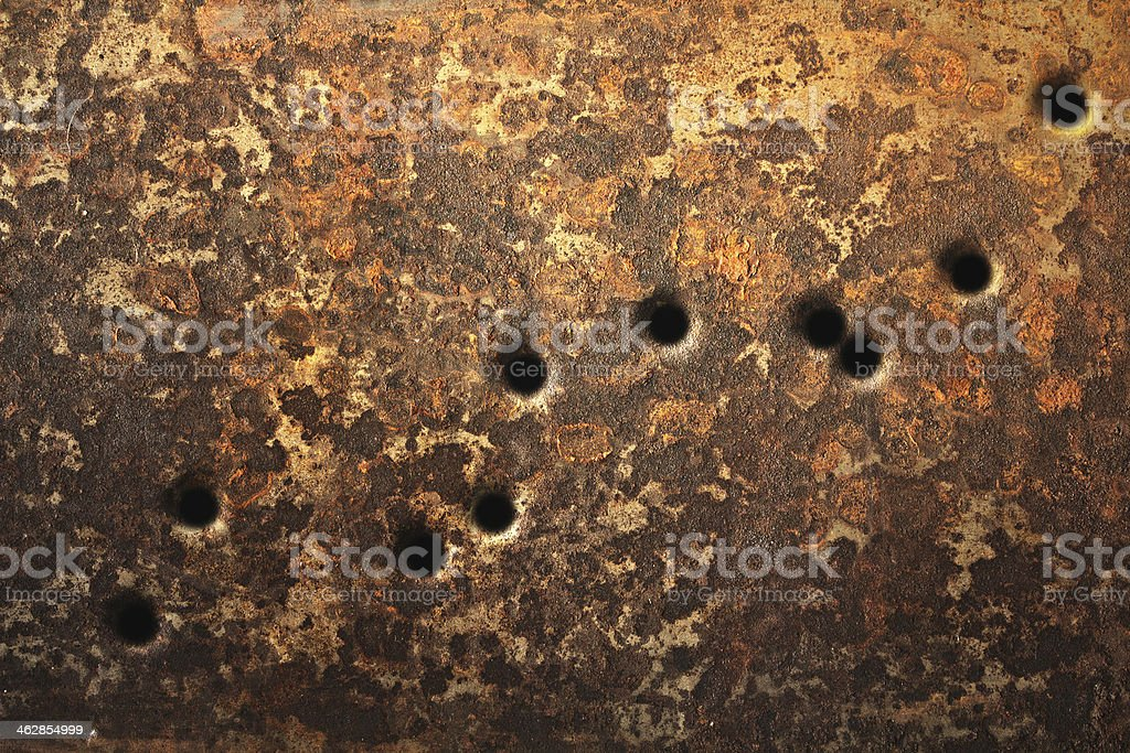 Bullet Holes Background stock photo
