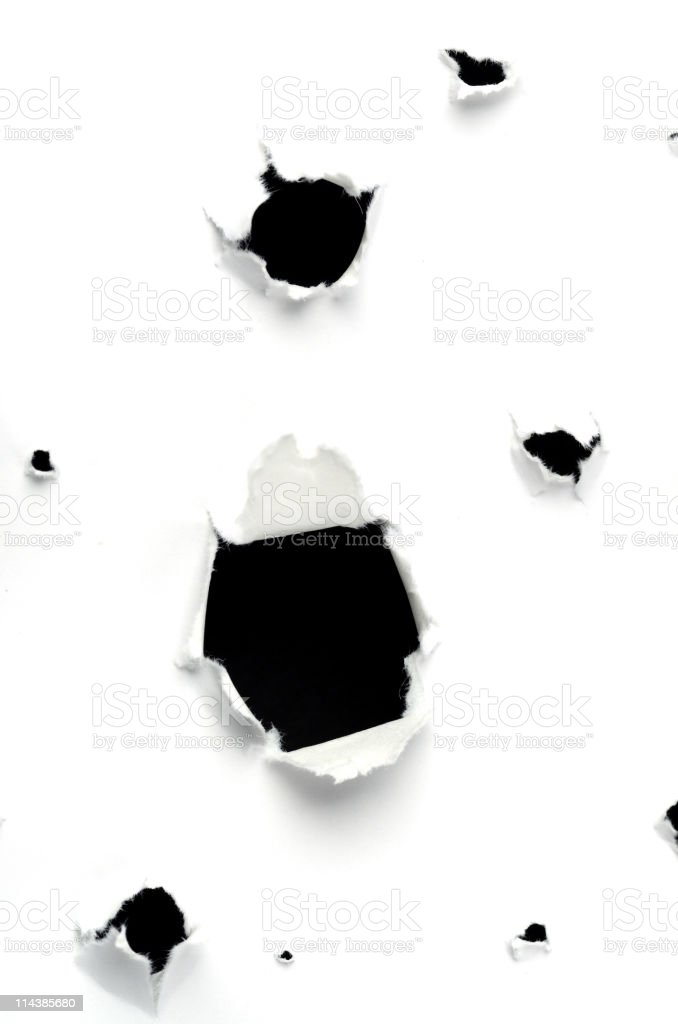 Bullet Holes royalty-free stock photo