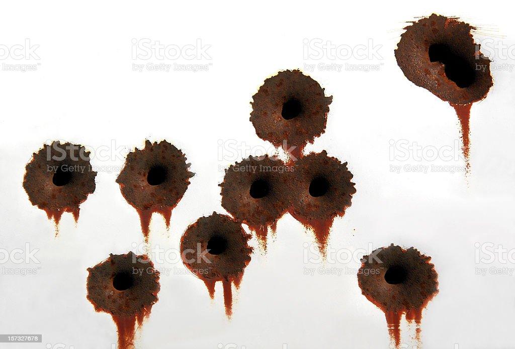 Bullet Holes royalty-free stock photo