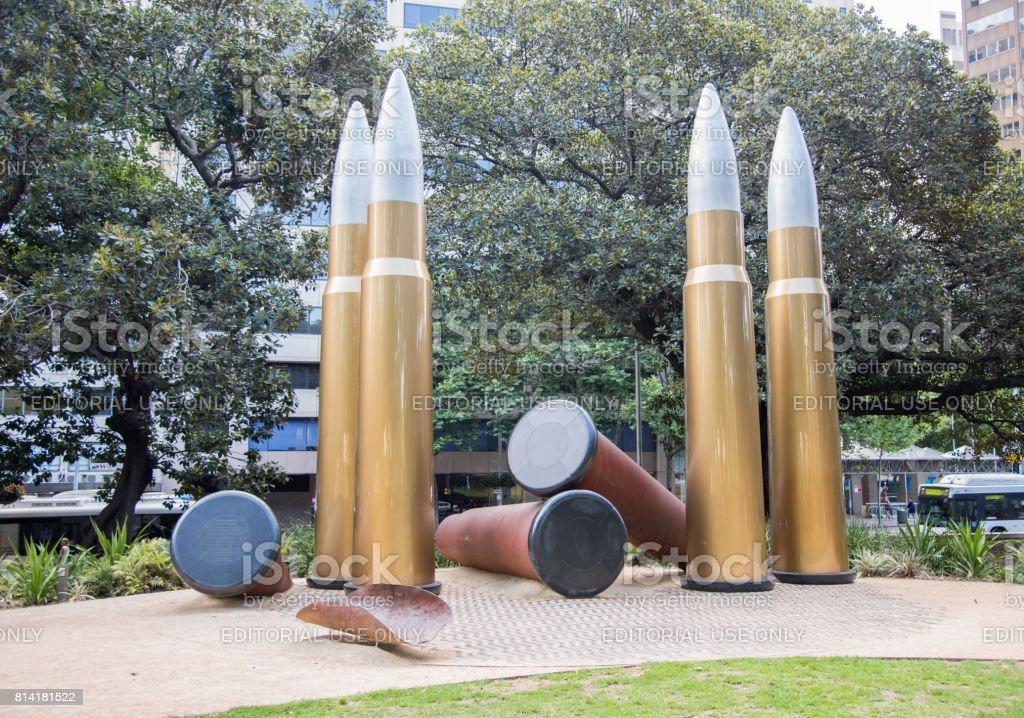 Bullet Memorial at Hyde Park stock photo