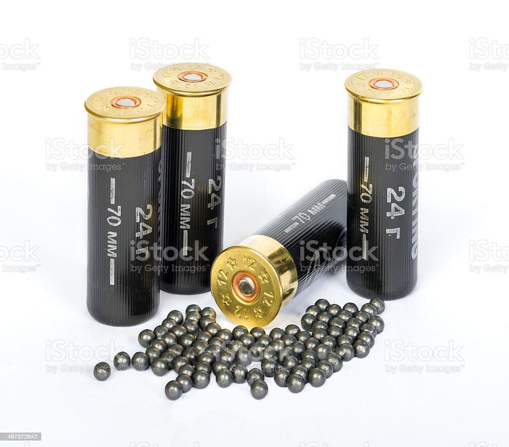 Bullet shells stock photo