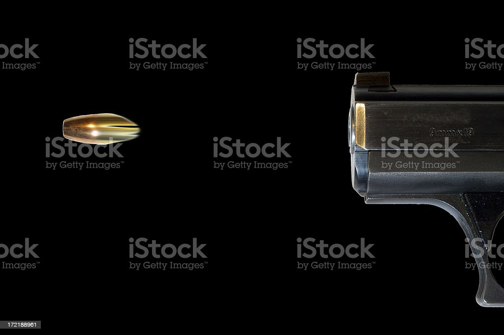 bullet shot from a gun royalty-free stock photo