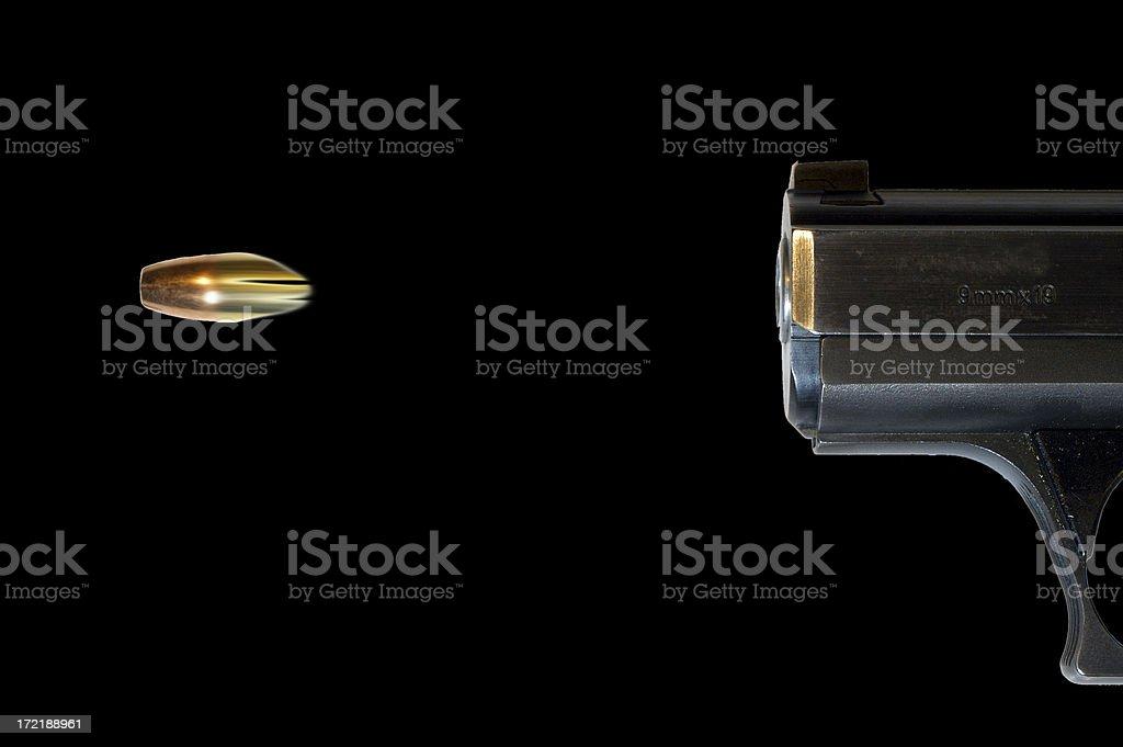 bullet shot from a gun stock photo
