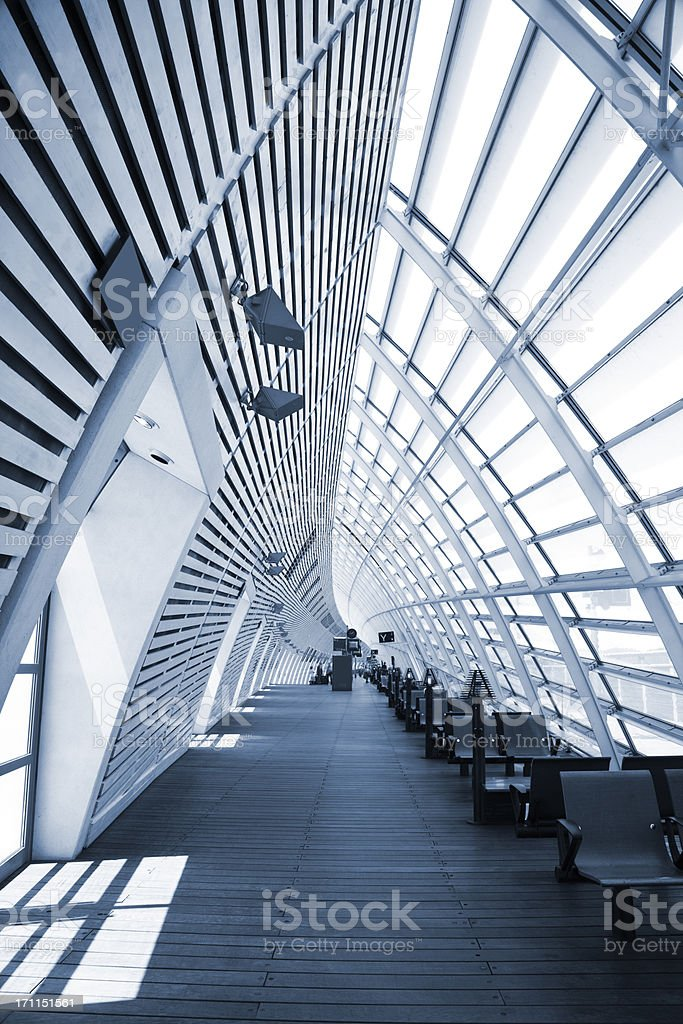 Bullet Train Station Interior royalty-free stock photo