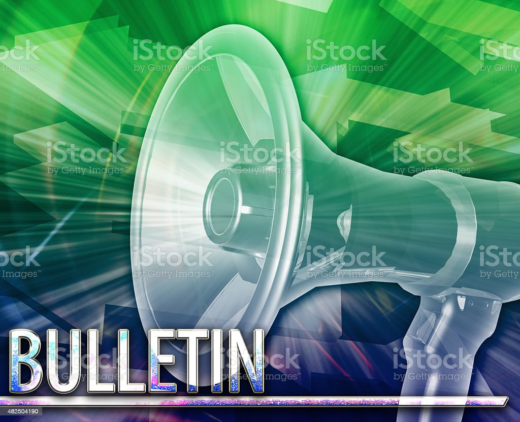 Bulletin Abstract concept digital illustration stock photo