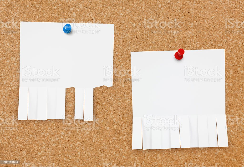 Bulletin Board Ads stock photo