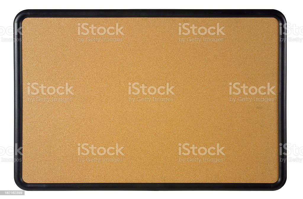 Bulletin board on white royalty-free stock photo