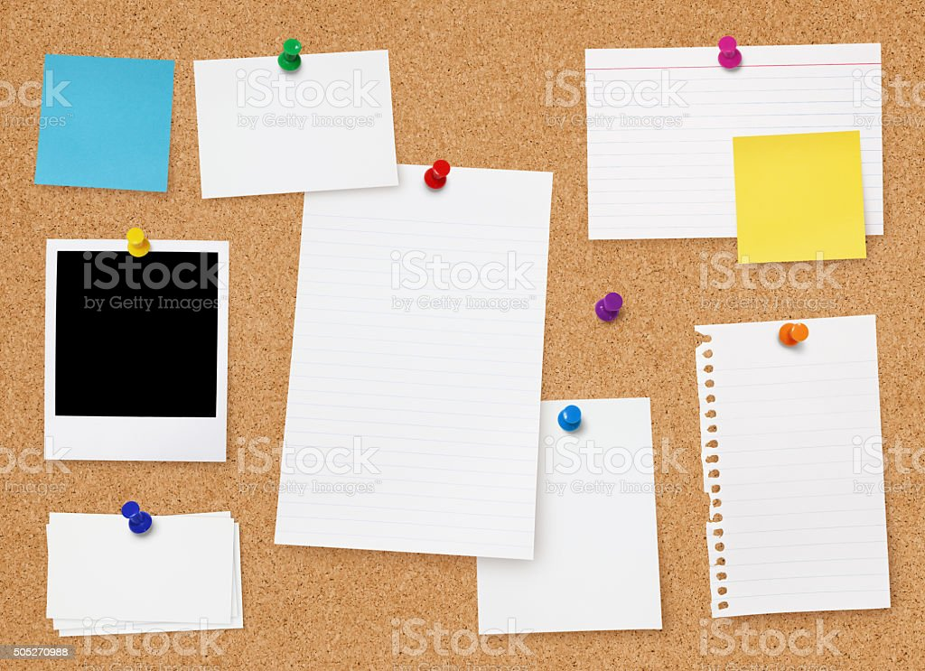 Bulletin Board stock photo