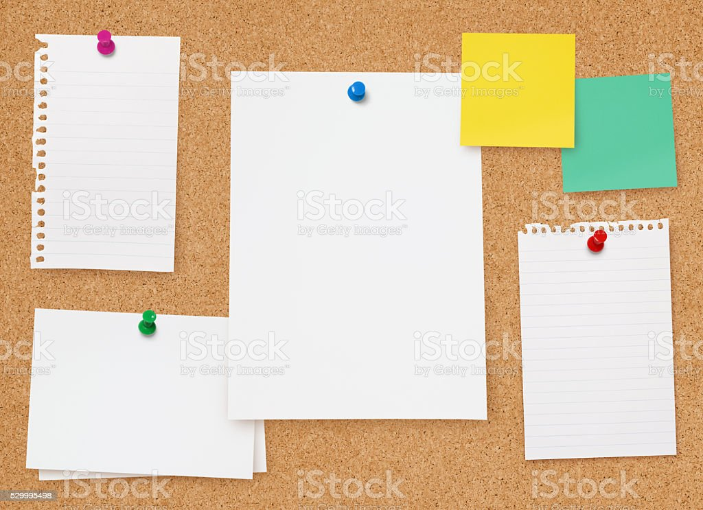 Bulletin Board stock photo