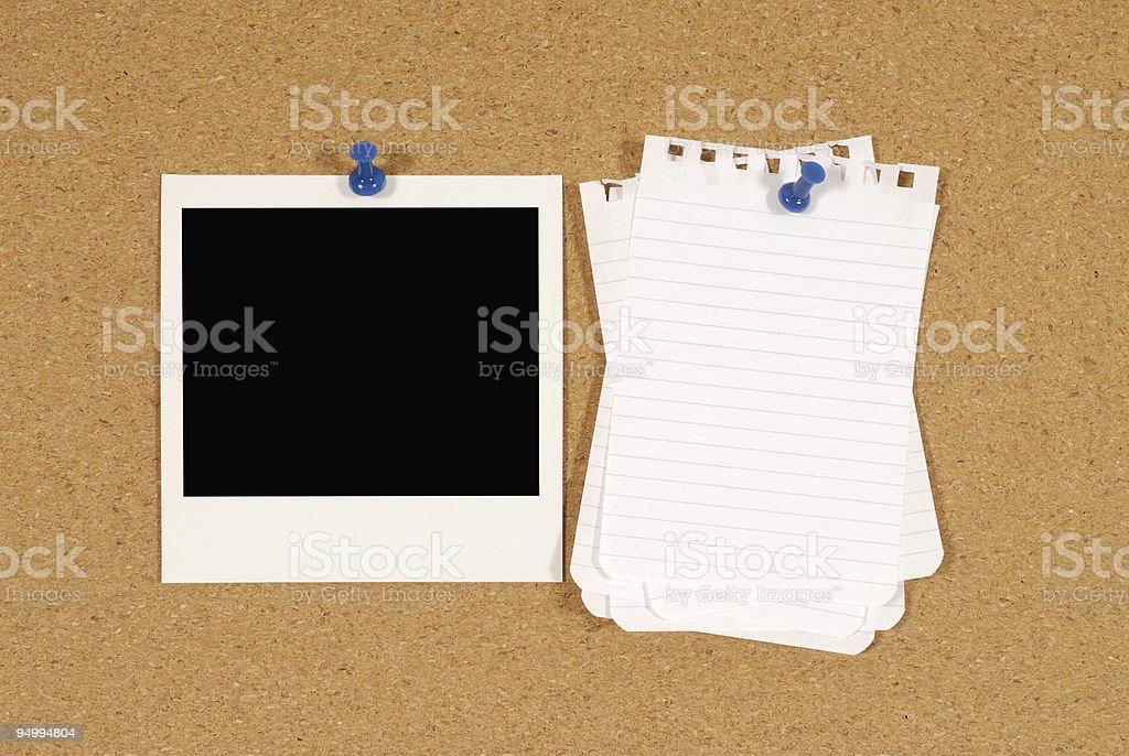 Bulletin board royalty-free stock photo