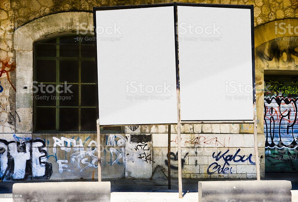 Bulletin Boards (path) royalty-free stock photo