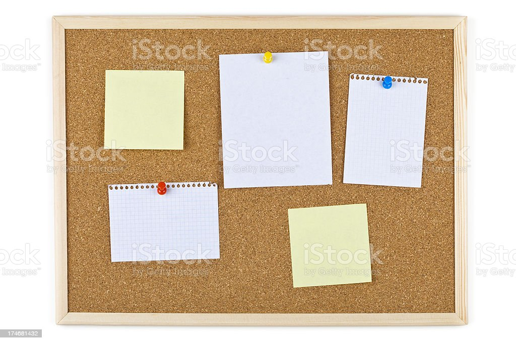XXXL Bulleting board with blank notes royalty-free stock photo