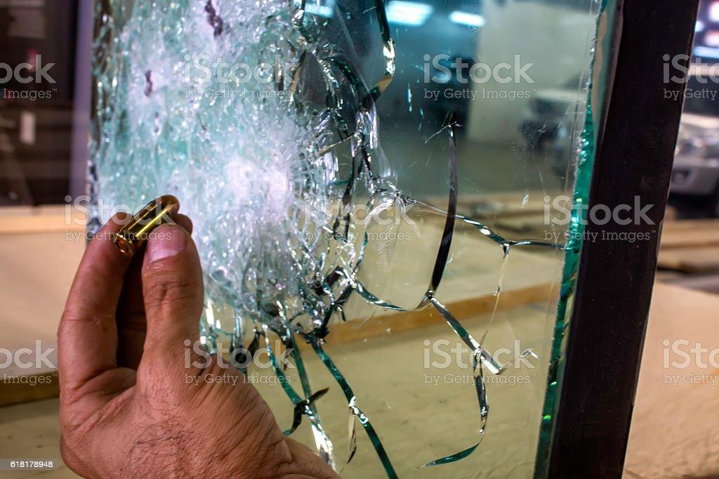 Bulletproof Glass stock photo