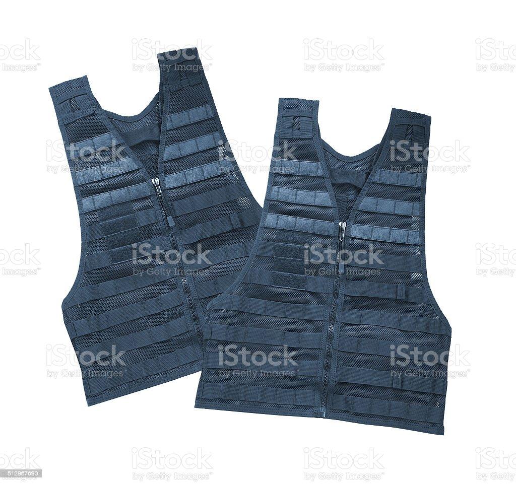 Bulletproof vest. Isolated on white. stock photo