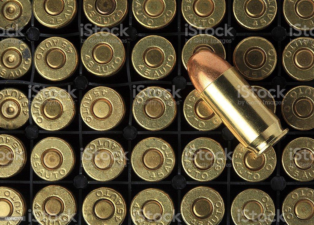 Bullets pattern stock photo