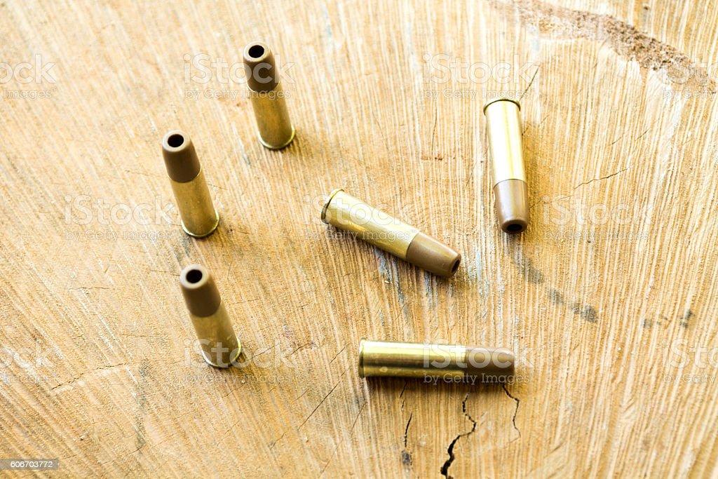Bullets. Pneumatic. stock photo