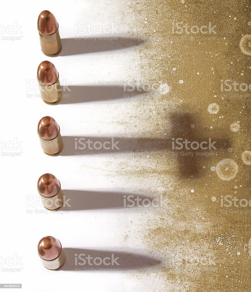 Bullets shadow with cross 2 royalty-free stock photo