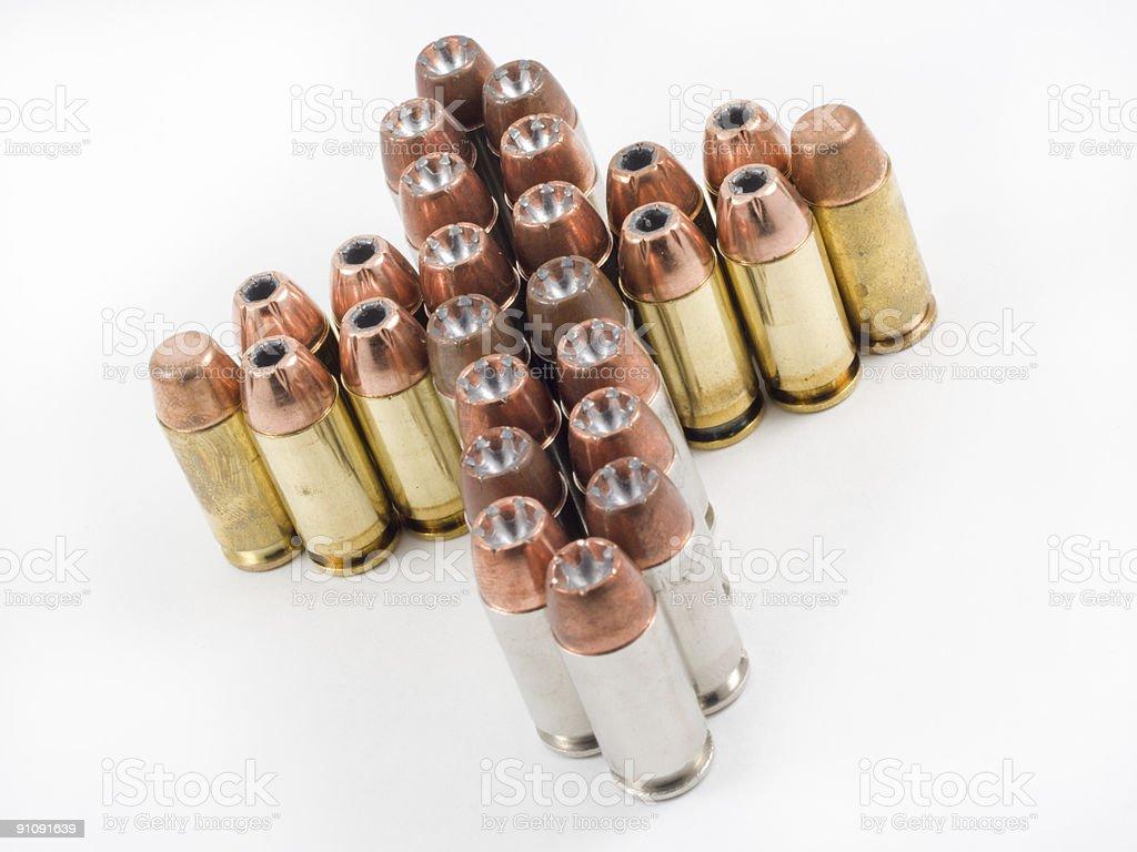 Bullets shaped like a cross stock photo