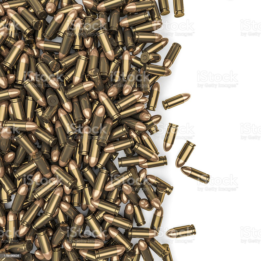 Bullets spill stock photo
