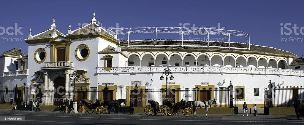 Bullfight arena in Sevilla, Spain royalty-free stock photo