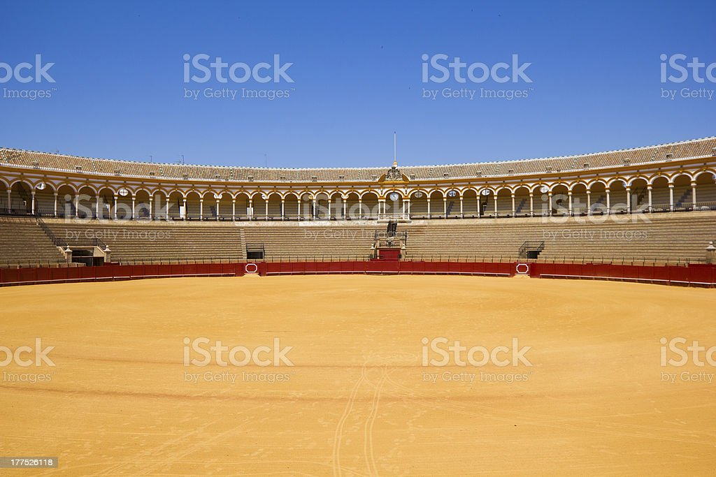 bullfight arena,  Sevilla, Spain stock photo