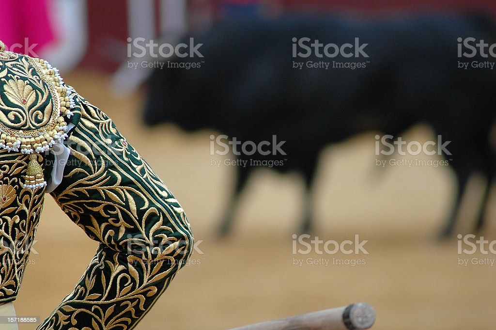 bullfighter's silhouette royalty-free stock photo