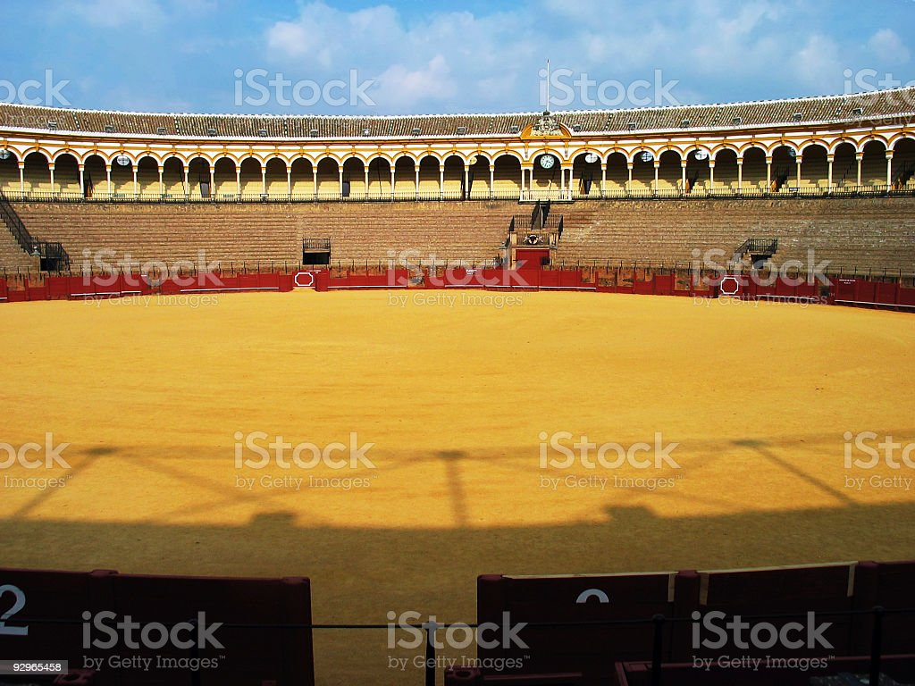 Bullfighting arena in Seville, Spain royalty-free stock photo