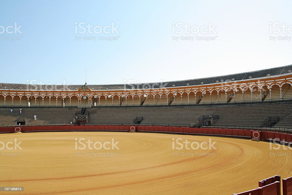 Bullfighting arena Seville royalty-free stock photo